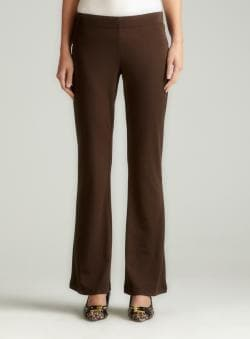 Max Studio Slim Fit Boot Cut Ponte Pant