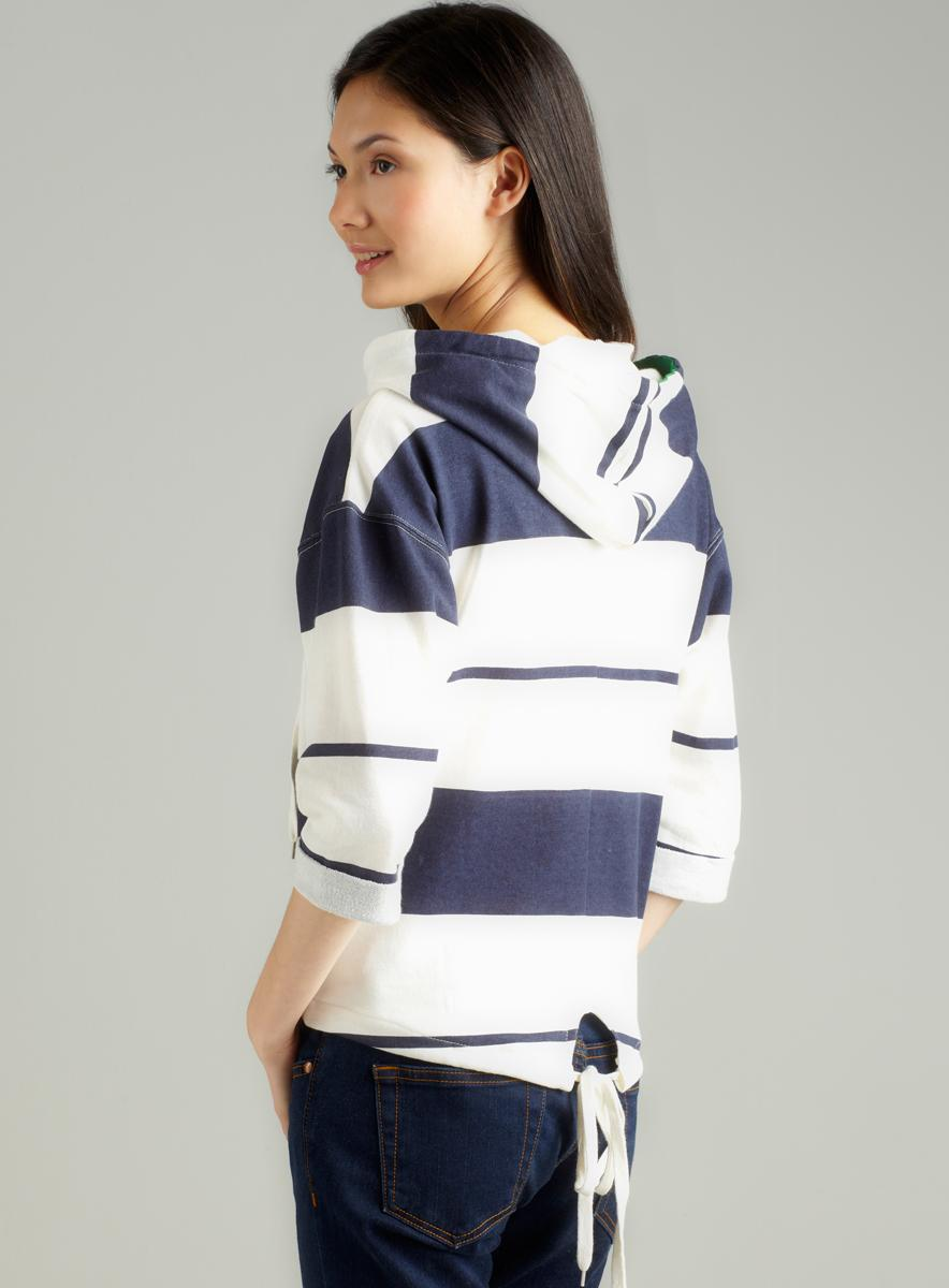 Tommy Girl Junior'S Stripe Cagoul Hoodie