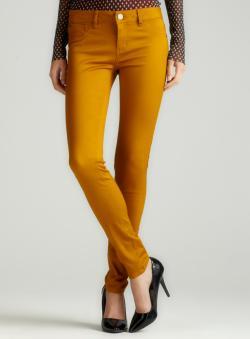 Tinseltown Color Skinny Jean In Dijon