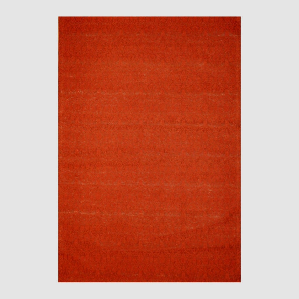 Indo Hand-tufted Flat Weave Red/ Rust Kilim Rug (5'6 x 8')