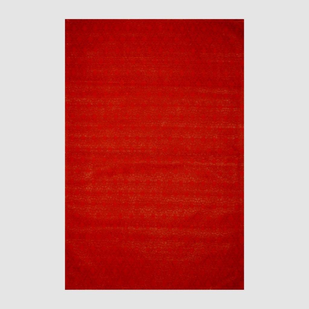 Indo Hand-tufted Flat Weave Red/ Burgundy Kilim Rug (5'6 x 8')