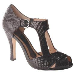 Women's Joan & David Lana Black/Black Reptile