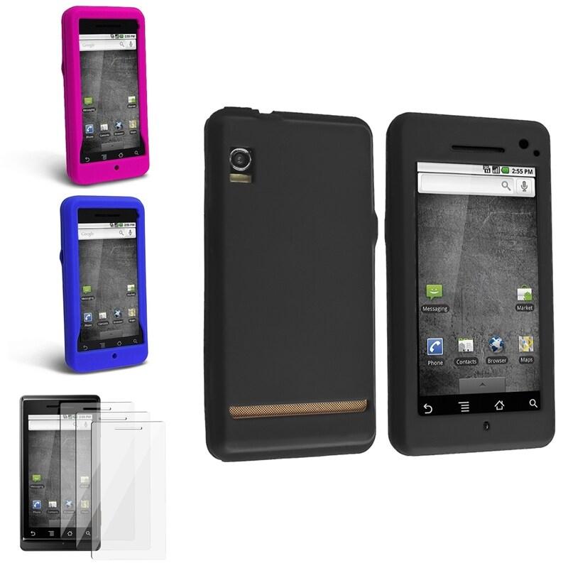 Dark Blue/ Black/ Hot Pink Cases/ Protectors for Motorola Droid A855