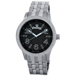 JBW Men's 'Pantheon' Diamond Stainless Steel Bezel and Dial Watch