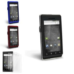 Blue/ Black/ Red Cases/ Screen Protectors for Motorola Droid A855