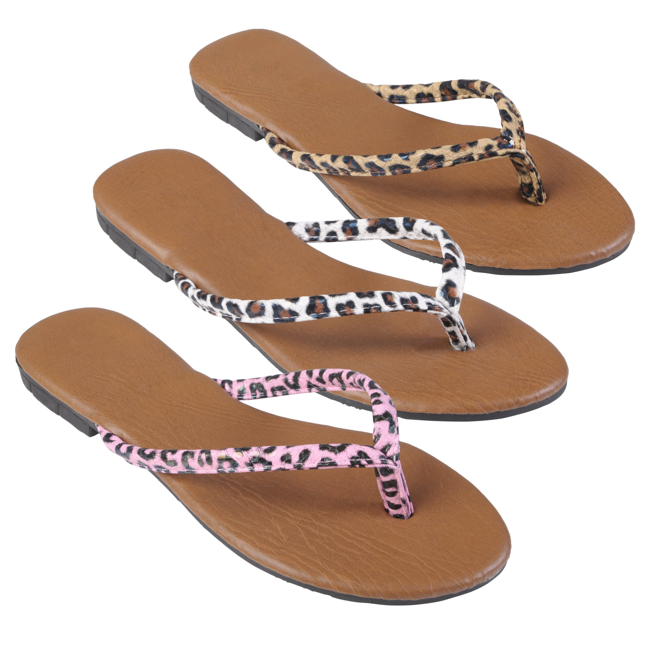 Journee Collection Women&#39;s &#39;Gavina&#39; Leopard Print Flip-flops