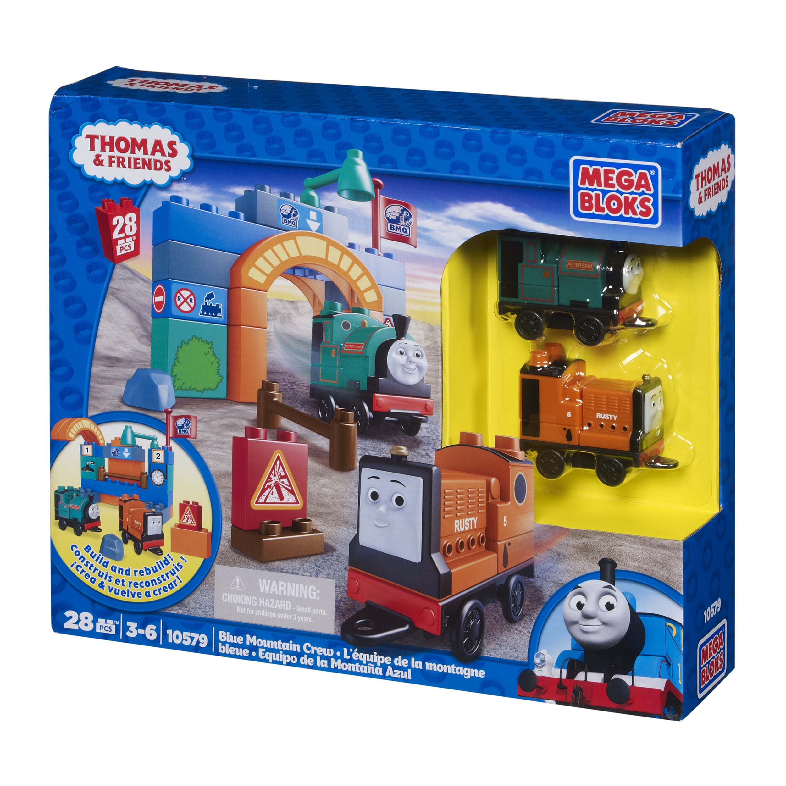 Mega Bloks Thomas and Friends Blue Mountain Crew Playset