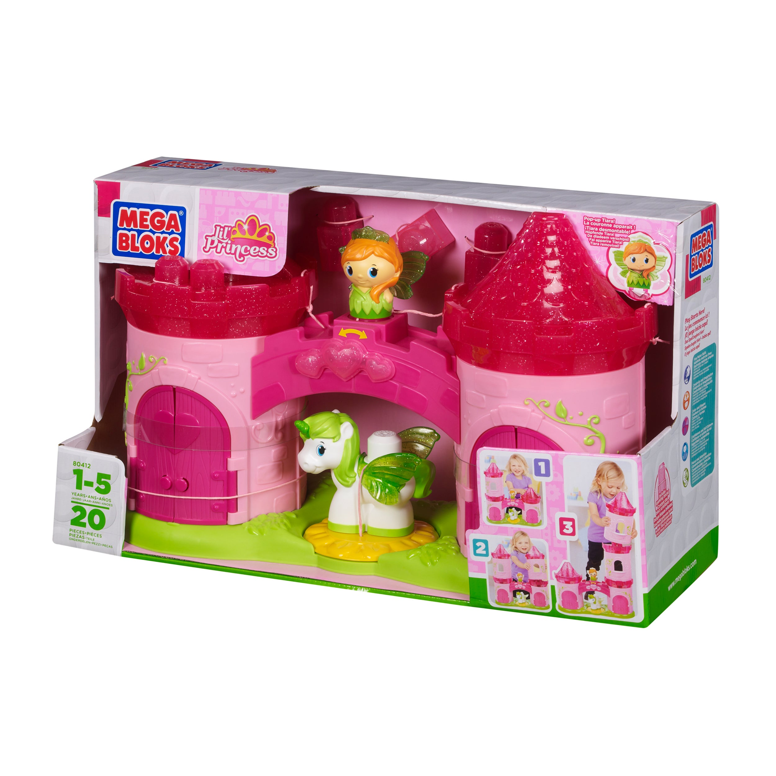 Mega Bloks Lil' Princess 3-Story Enchanted Castle Playset