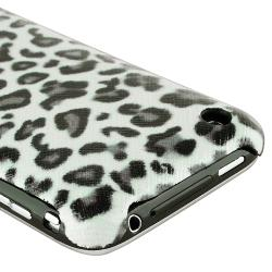 Grey Leopard Rear Case/ Screen Protectors for Apple iPhone 3G/ 3GS