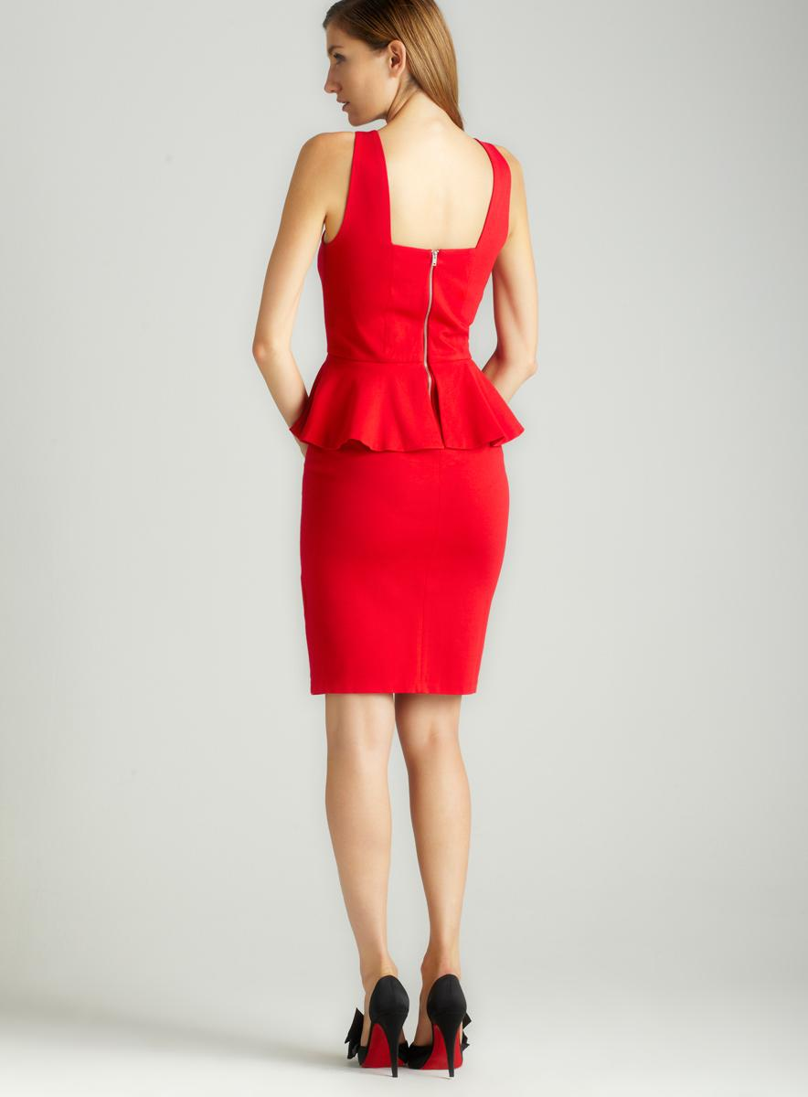 Vivienne Tam Sleeveless Waist Peplum Dress