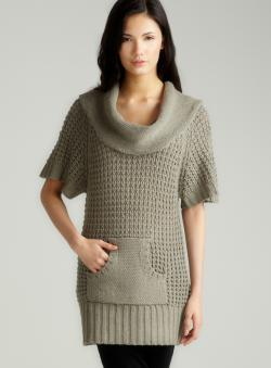 Vertigo Textured Cowl Neck Sweater
