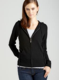 Chelsea & Theodore D2-Solid Jersey Hooded Zip Up