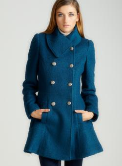 Guess Boucle Skirted Coat