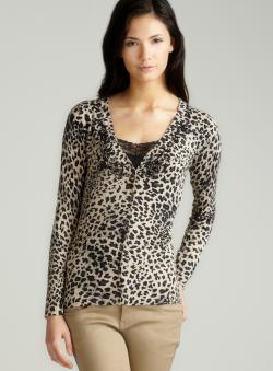 Vertigo L/S Animal Printed Cardigan