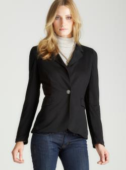 Bjewel 3/4 Slv Blazer In Black