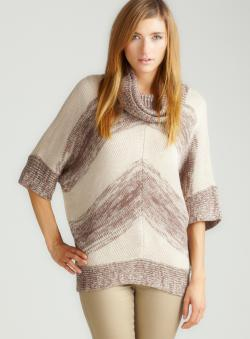 Romeo & Juliet Couture Chevron Oversized Sweater