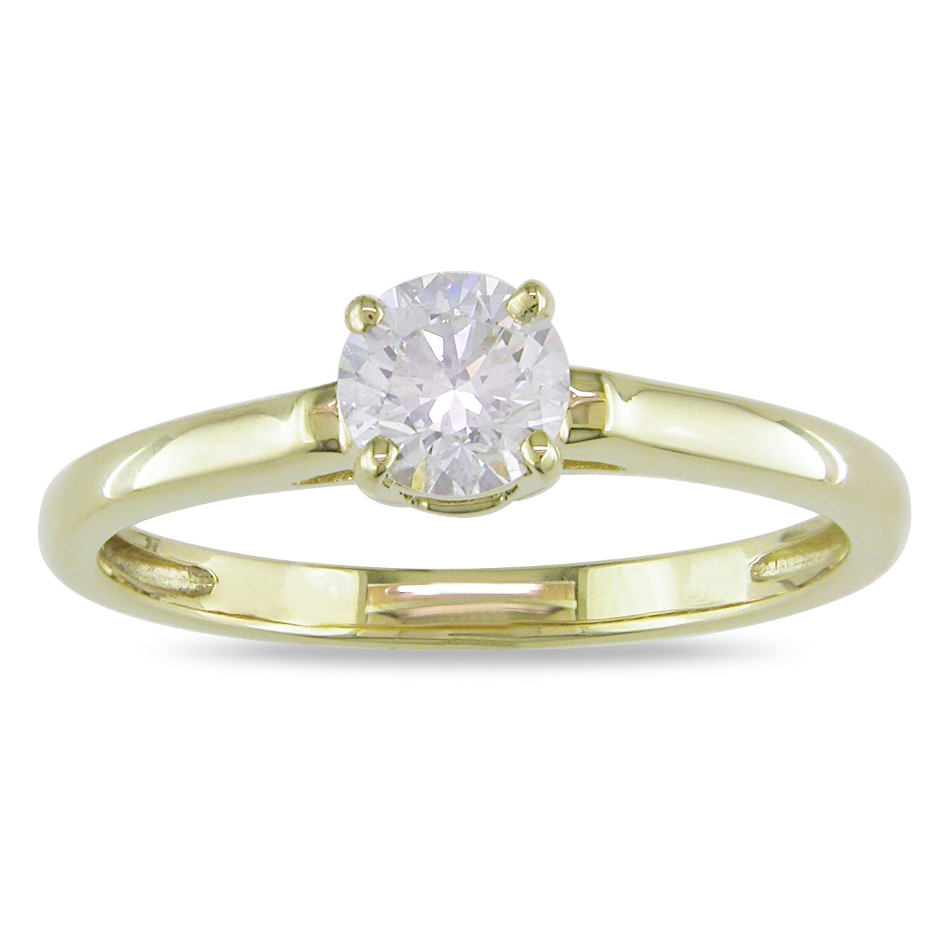 Miadora 14k Yellow Gold 1/2ct TDW Diamond Ring (G-H, I1-I2)