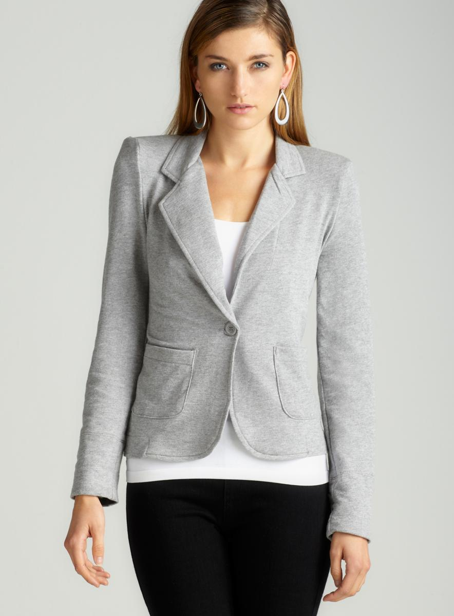 Love, Fire Knit Blazer With Print Lining