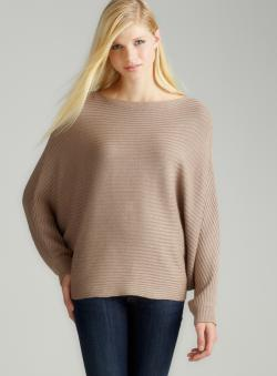 Joan Vass Tart-L/S Ribbed Cropped P/O