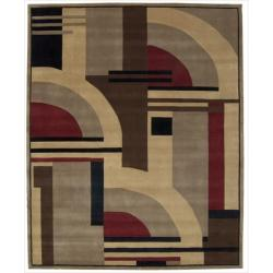 Nourison Hand-tufted Dimensions Multicolor Rug (7'6 x 9'6)