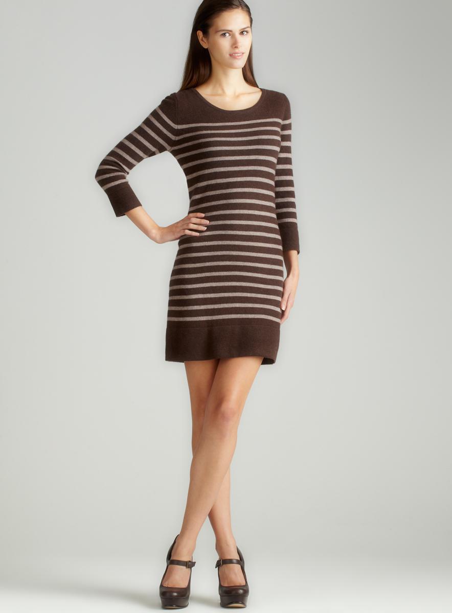 Chelsea & Theodore Cashmere Striped Dress