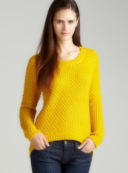 Annalee + Hope Aug-Sharkbite Hem Scoopnk Sweater