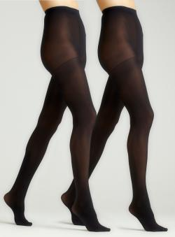 Ellen Tracy 2 Pack Microfiber Tights