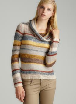 JJ Basics Cowl Openweave Pullover
