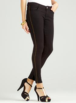 Romeo & Juliet Couture Black Skinny Jean With Stud