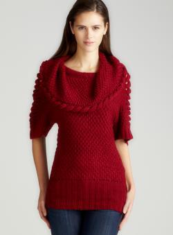 Annalee + Hope Merlot Cowl Neck Sweater