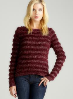 Romeo & Juliet Couture Metallic Stripe L/S Sweater