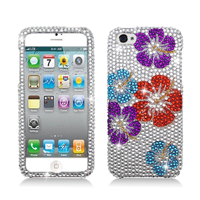 BasAcc Full Diamonds Color Flower Case for Apple iPhone 5