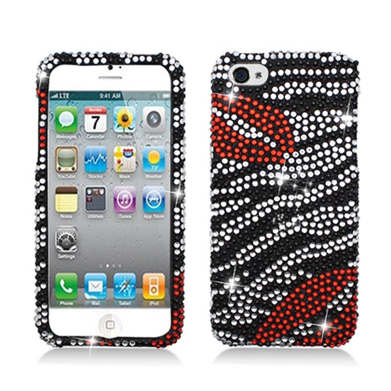 BasAcc Full Diamonds Zebra/ Lips Case for Apple iPhone 5