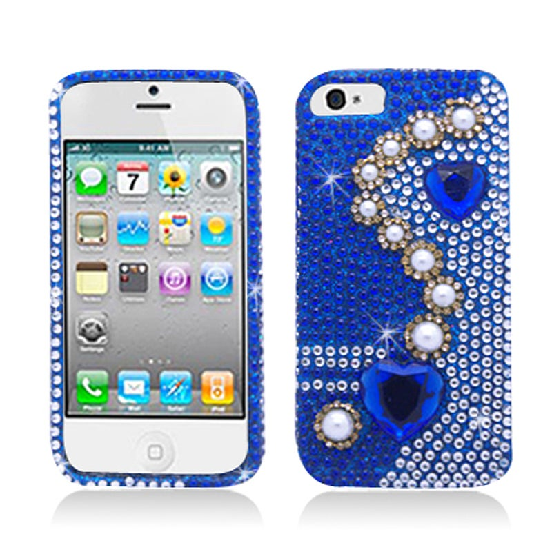 BasAcc Full Diamonds Pearl Blue Case for Apple iPhone 5