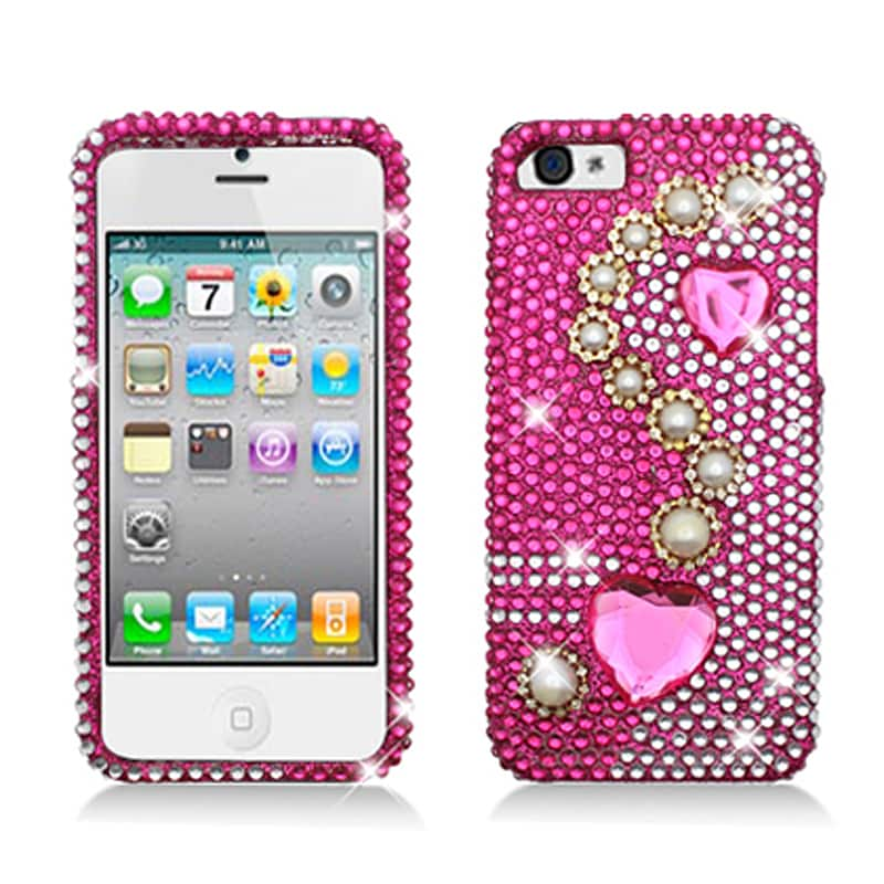BasAcc Full Diamonds Pearl Pink Case for Apple iPhone 5