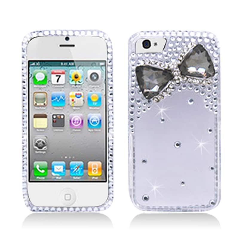 BasAcc Diamonds with 3D Smoke Crystal Bow Tie Case for Apple iPhone 5