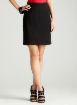 Calvin Klein Petite Pencil Skirt In Black
