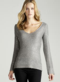 Max Studio Long Sleeved Sequin Sweater
