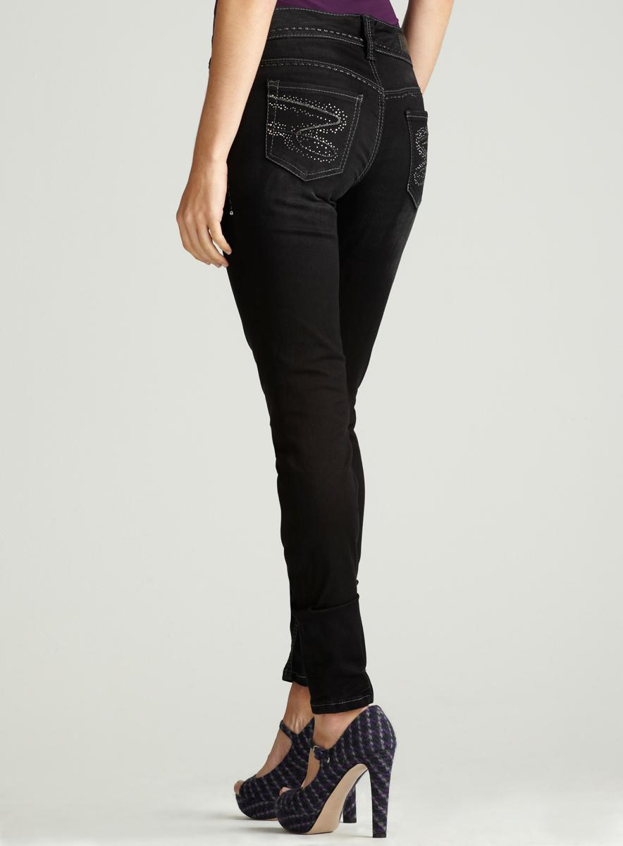 Seven 7 Sateen Skinny With Rhstn Pocket