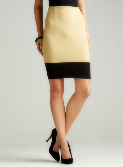 Wdny Colorblocked Pencil Skirt B
