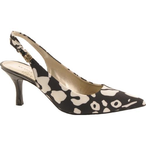 Women's Anne Klein Harquin Black/White Multi Fabric