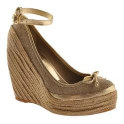 Women&#39;s BCBG Max Azria Sevilla Gold Metallic Canvas