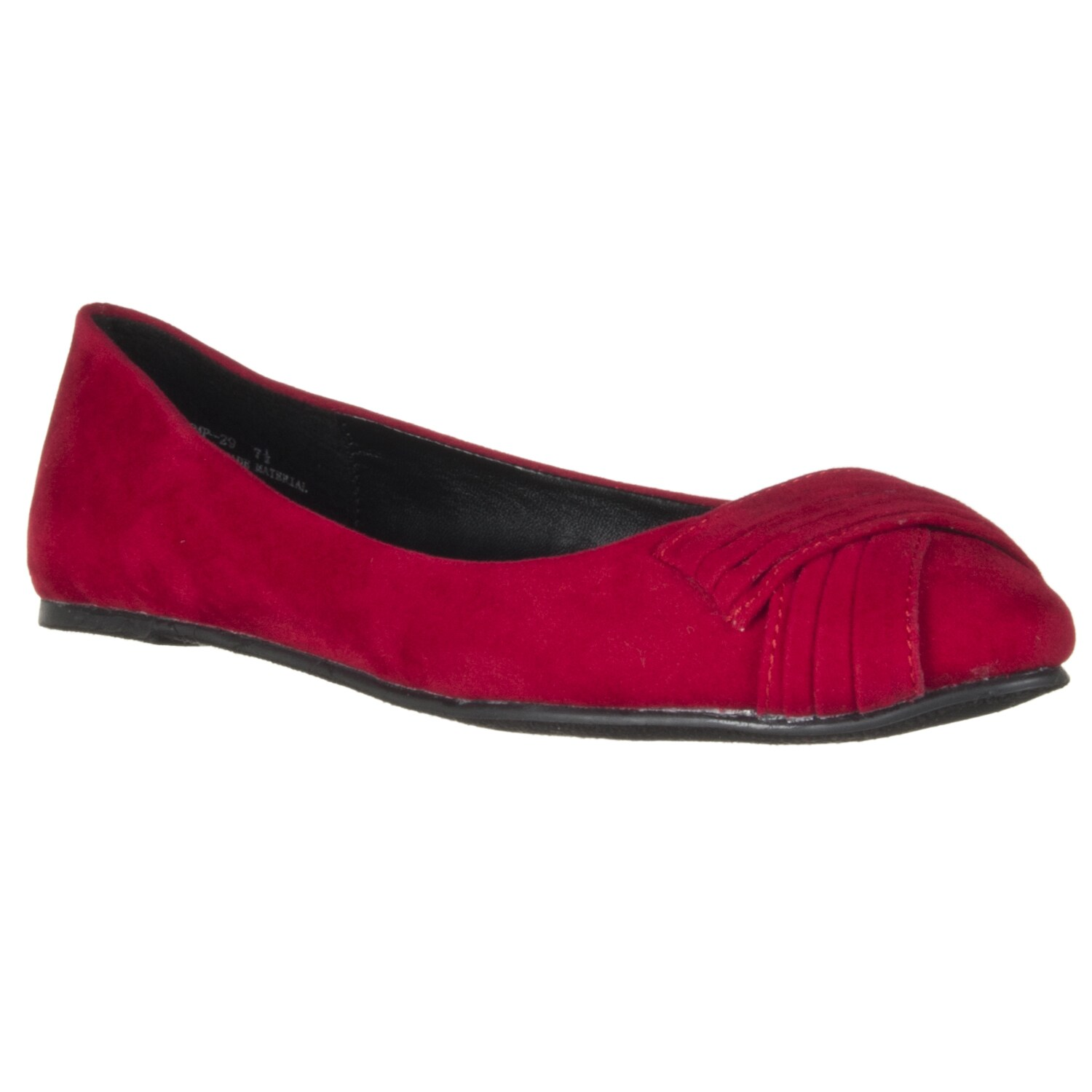 Riverberry Women's 'Jump' Ruched-detail Microsuede Flats