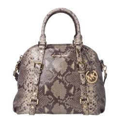Michael Kors 'Bedford' Snake Embossed Leather Satchel