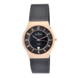 Skagen Men's Titanium Rosegold Case Mesh Band Watch
