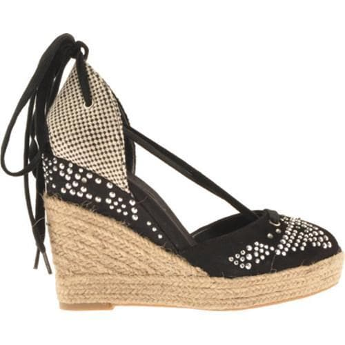 Women's BCBGeneration Sashas Black Suede/Rope Weave