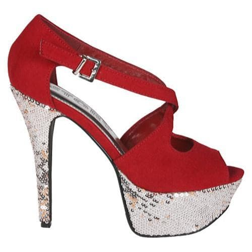 Women's Beston Alora-05 Red Suede