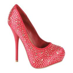 Women's Beston Kesha-01 Red Glitter