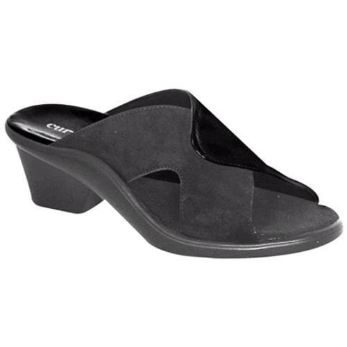 Women's Curvetures Jamie 709 Black Patent Leather/Suede
