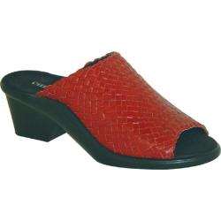 Women's Curvetures Helen 401 Red Woven Leather